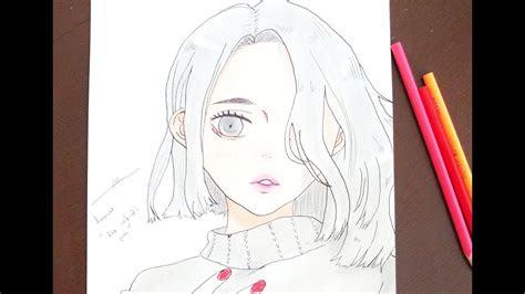 draw anime girl  pencil easy draw  artist