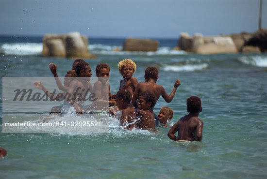 Boys playing in the sea, Lenakel, Tanna, Vanuatu, Pacific Islands, Pacific Stock Photo - Rights-Managed, Artist: Robert Harding Images, Code: 841-02925521