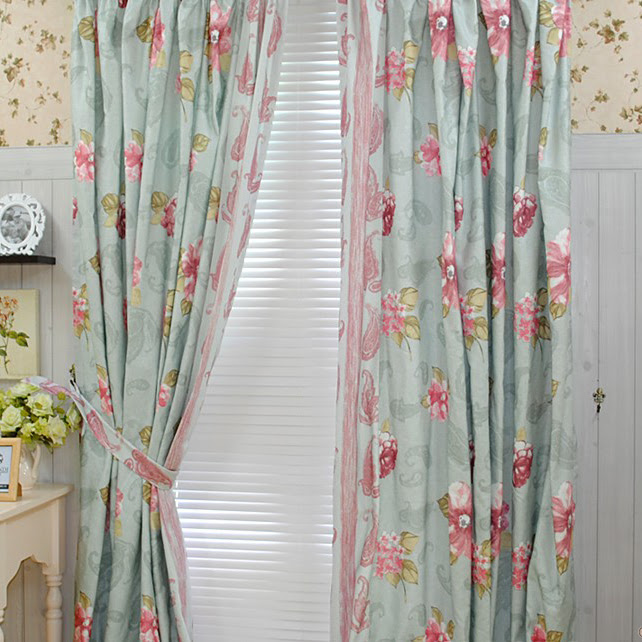 Bedroom Country Girls Like Cotton Blending Curtains (Two Panels ...