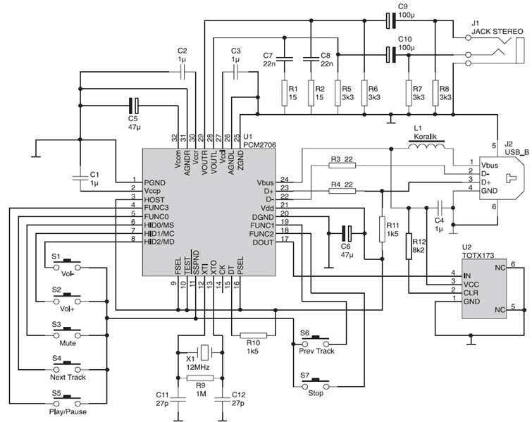 usb mp3 player circuit diagram pdf