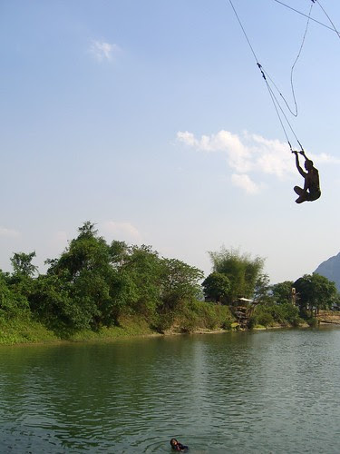Tubing in Vang Vieng, Laos, 2007 by tommytastic. What's so bad about this?