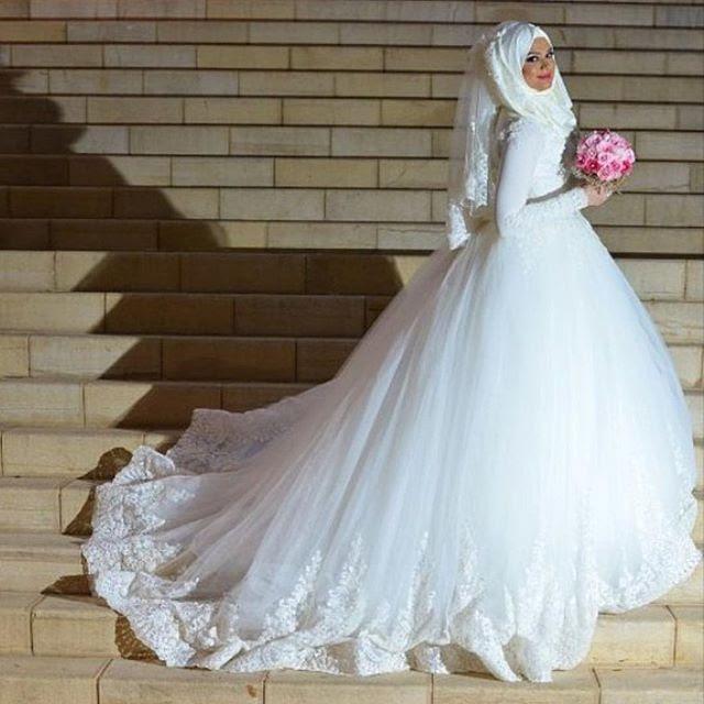 Idée De Mariage Robe De Mariee Pour Femme Musulmane Voilee