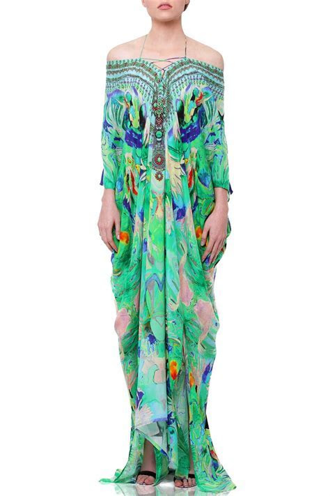 Lace Up Kaftan Dresses [Best Mint Green] Up to 50% Off