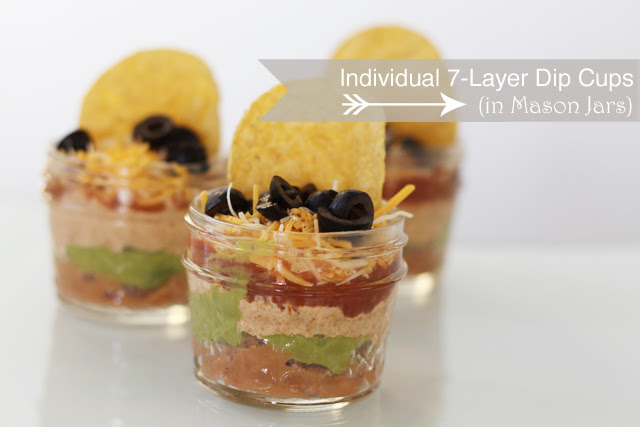Party Recipe: Individual 7-Layer Dip Cups (in Mason Jars)
