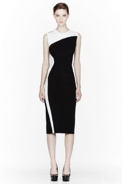 Stella McCartney Black Compact Jersey Dress
