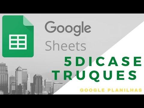 Google Planilha 5 dicas Para Seu dia a dia