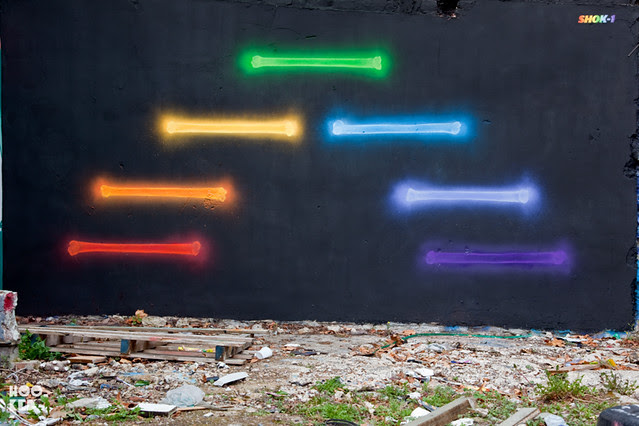 Seven Star Yard Street Art Mural by artist Shok-1