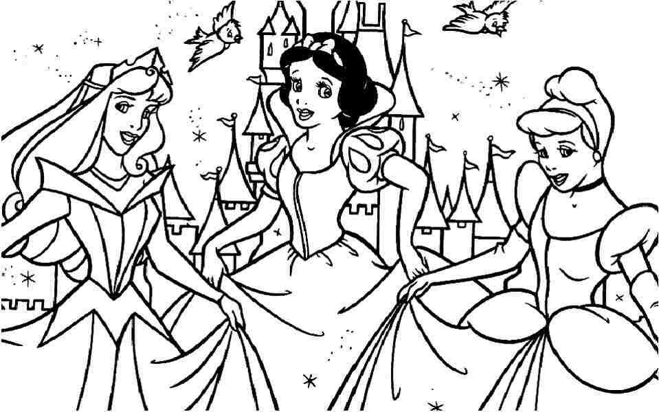 Easy Disney Princess Coloring Pages Www.robertdee.org
