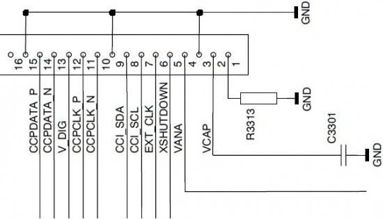 (Tinker Hint: 16-pin camera connector in Nokia mobile phone 7380)