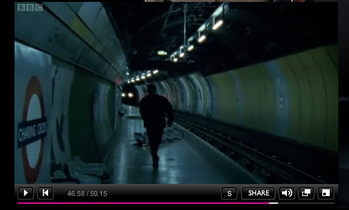Spooks at Charing Cross Tube - BBC Screengrab