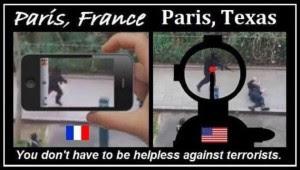 gun paris-france-vs-paris-texas