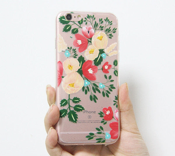 Poppy Flowers Iphone 6s 6 Clear Case Iphone 6 Plus Transparent