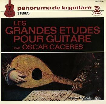 CACERES, OSCAR panorama de la guitare 7 / les grandes etudes pour guitare
