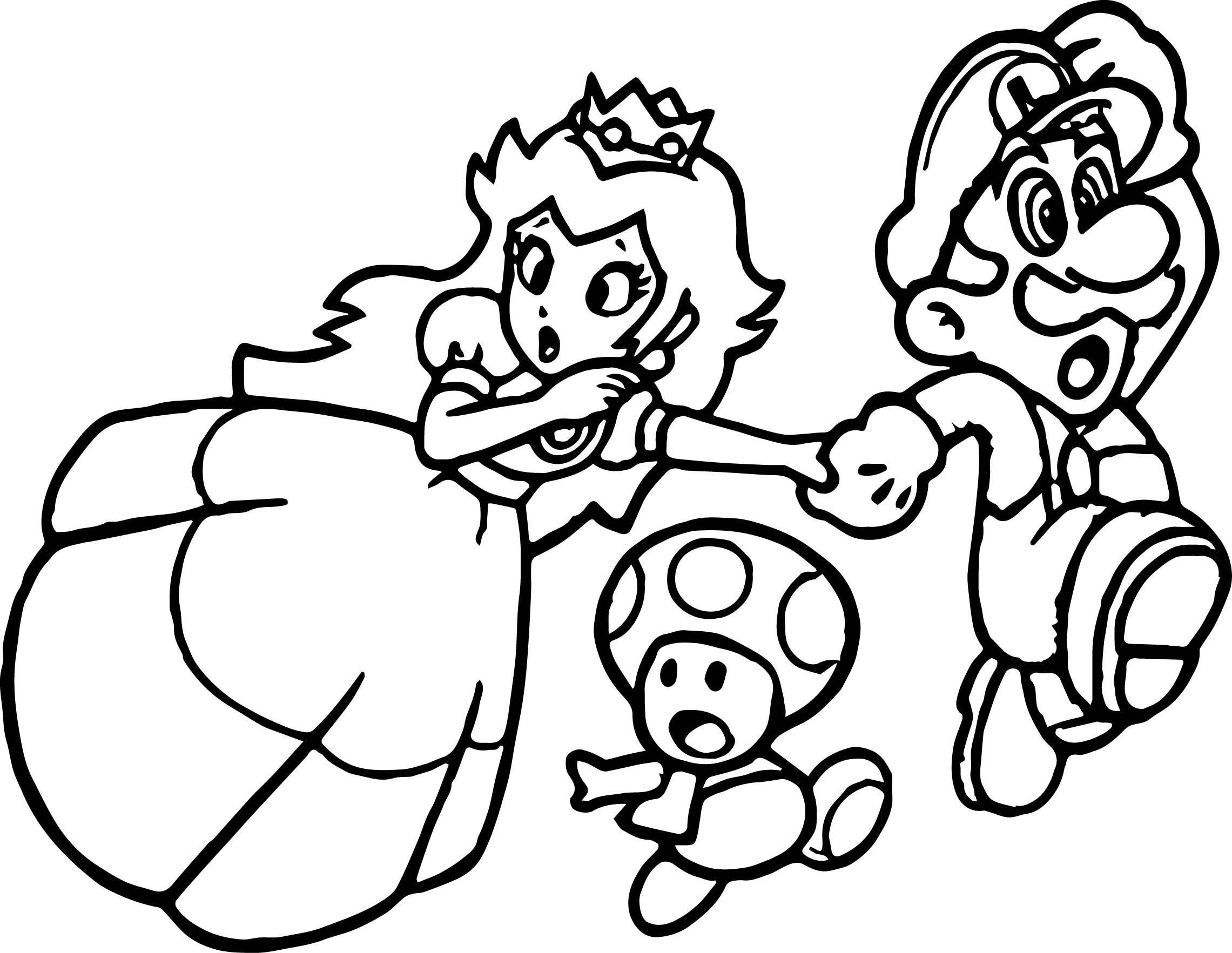 Super Mario Princess Mushroom Coloring Page Wecoloringpage.com ...