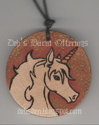 unicorn necklace by Debra Arnold