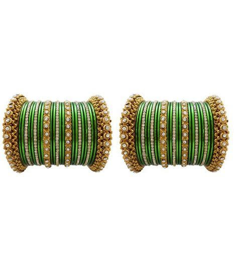 My Design Green Wedding Chura Bangles: Buy My Design Green