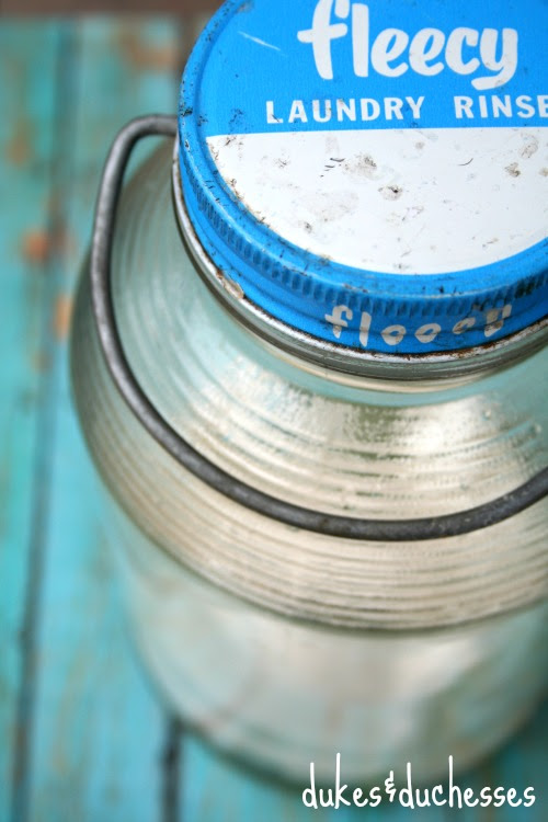 vintage fleecy glass jar
