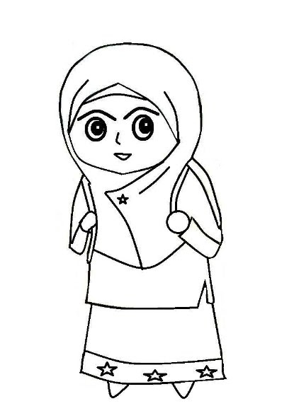 Gambar Kartun Muslimah Simple Auto Electrical Wiring Diagram