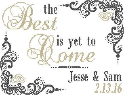 Cross Stitch Pattern: The Best Is Yet To Come Wedding
