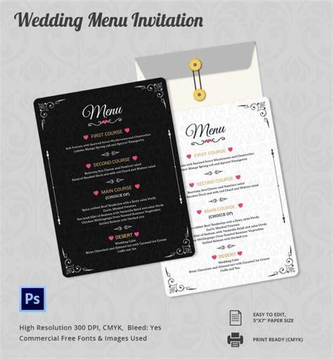 Wedding Menu Template 24  Download in PDF, PSD, Word