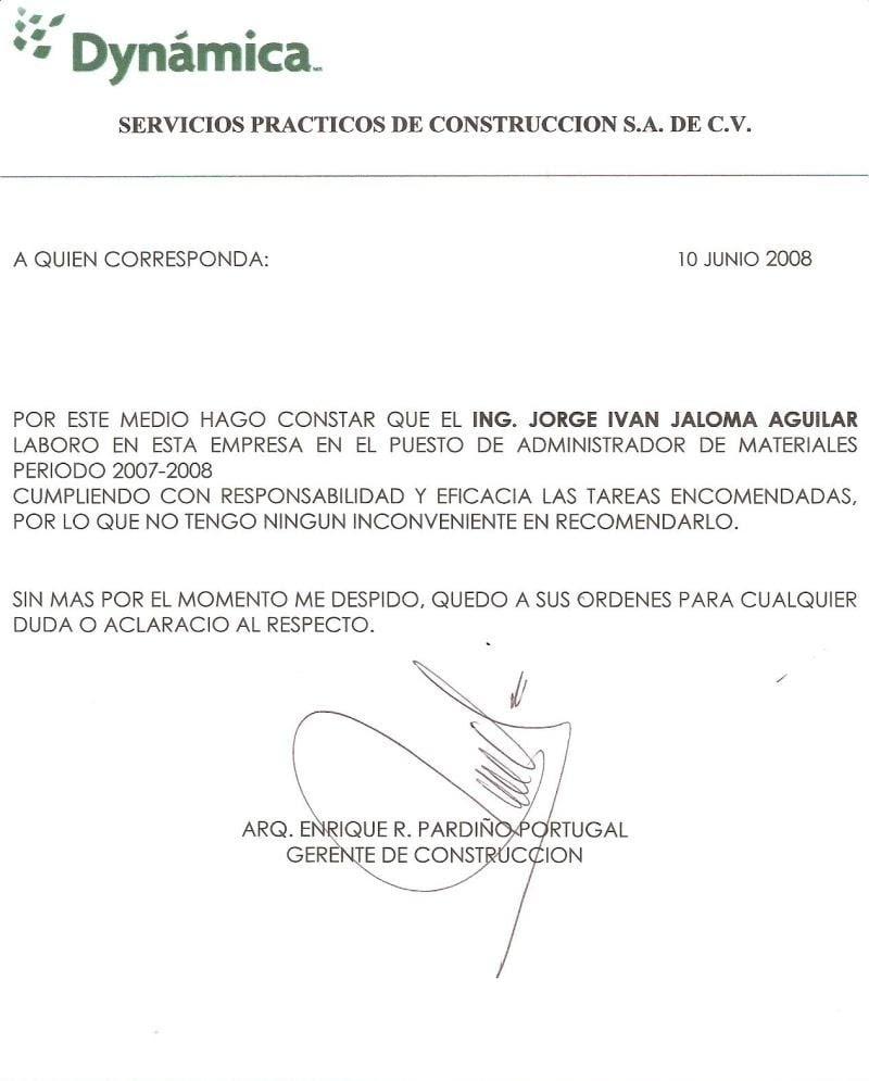 Carta De Re Recomendacion Personal R Carta De