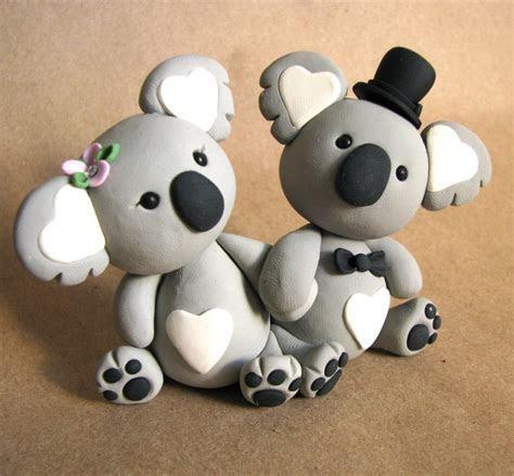 koala love Wedding Cake Topper Handmade   Heart, Linz and