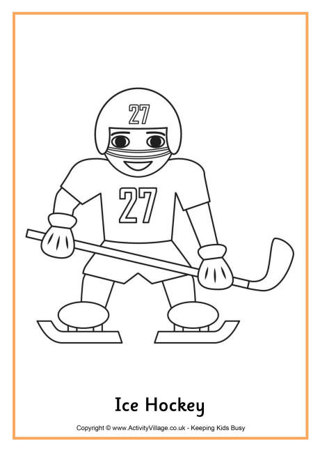 Free Hockey Coloring Pages - Coloring Home | 650x460