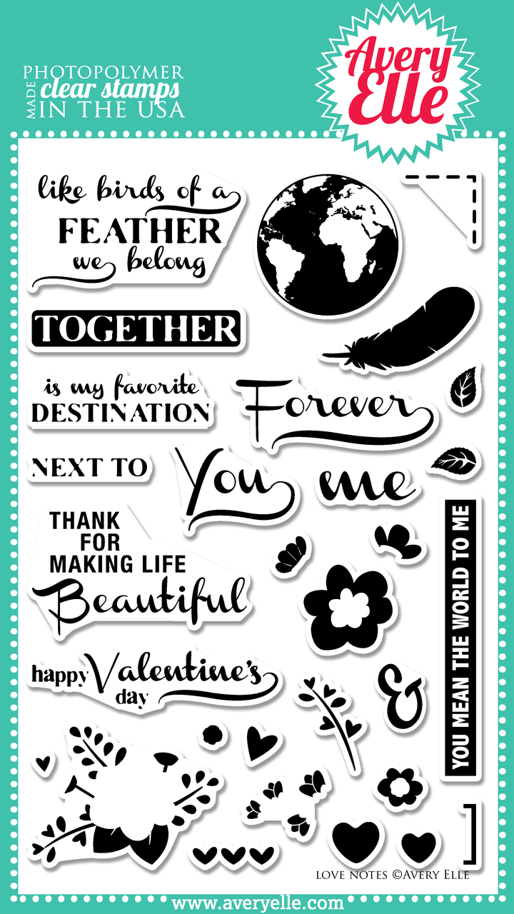 Love Notes Clear Stamp set
