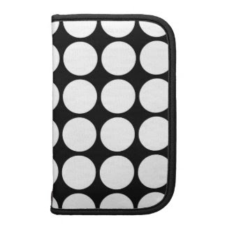 White Polka Dots on Black Planners