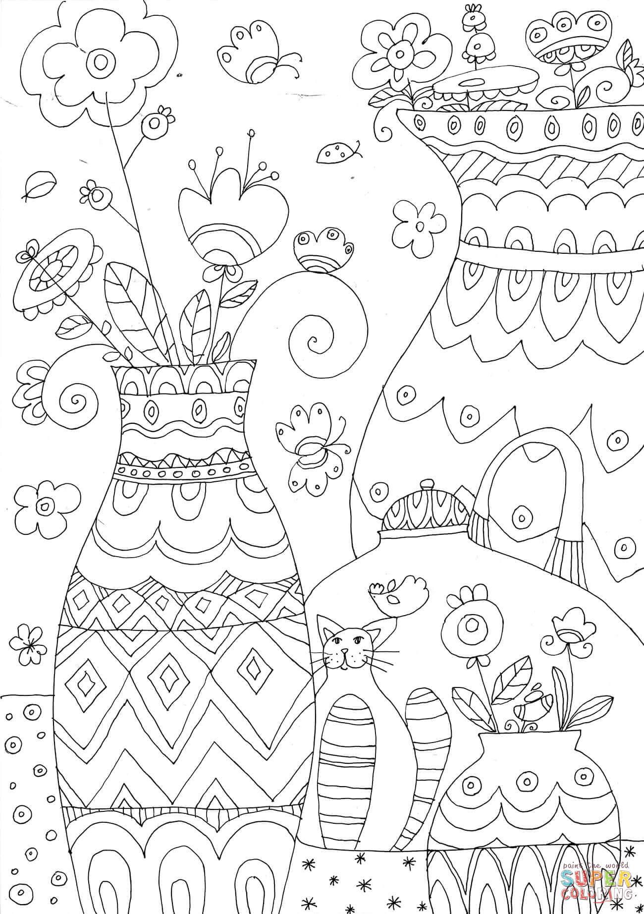 Dibujo De Floreros Para Colorear Dibujos Para Colorear Imprimir Gratis