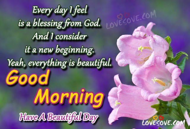 Every Day I Feel Is A Blessing From God
