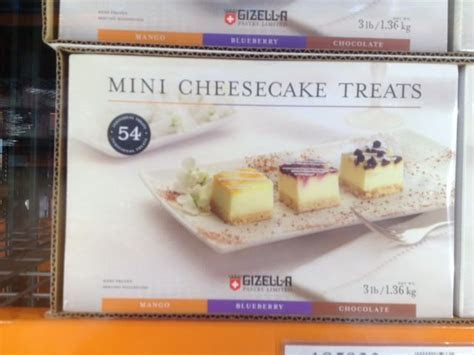 Costco: mini cheese cakes $12.99 for 54 one inch squares