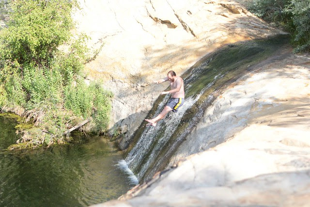 Upper Calf Creek pool water slide