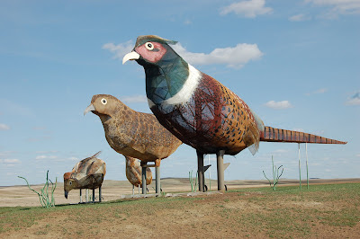 REAL quails were flocking to these statues, no lie!