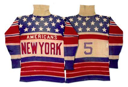 New York Americans 25-26 jersey, New York Americans 25-26 jersey