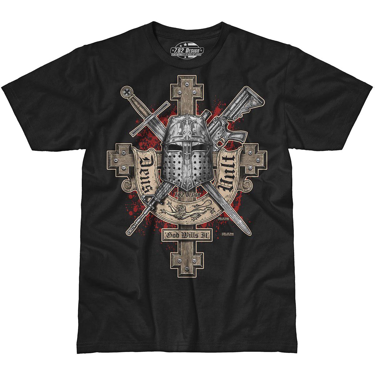 7.62 Design Deus Vult T-Shirt Black   7.62 Design ...