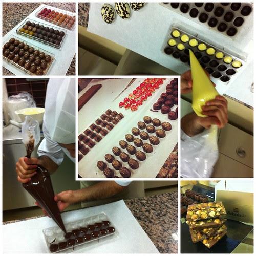 Çikolata yapmayı öğreniyorum..