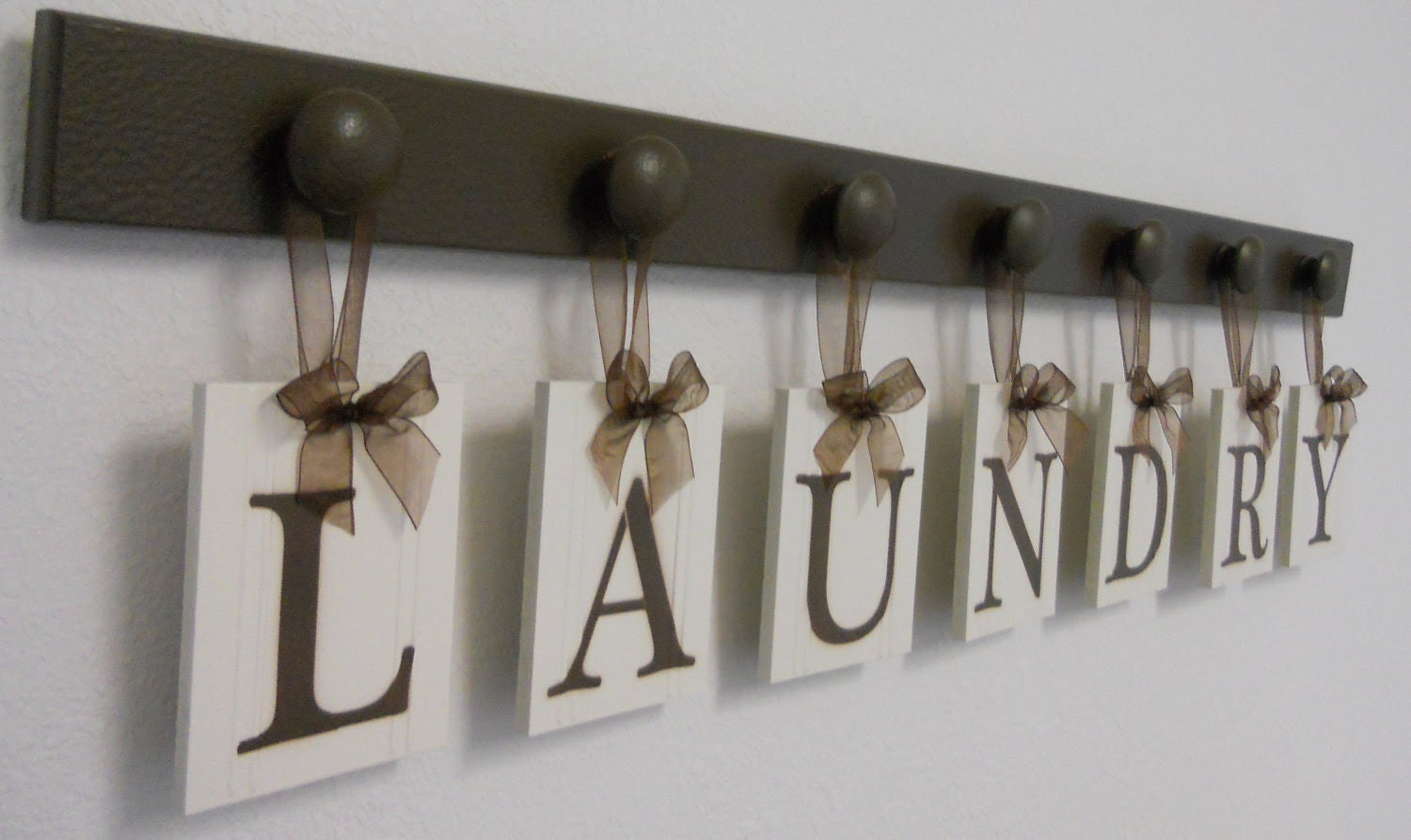 Laundry Room Wall Decor Personalized Hanging by NelsonsGifts