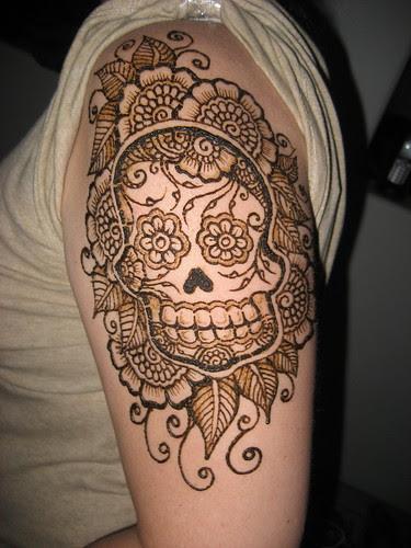 Epica Seif Al Din Sugar Skull Tattoo Sleeve