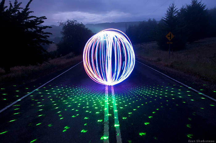 Orb Light Painting with Laser - Photography