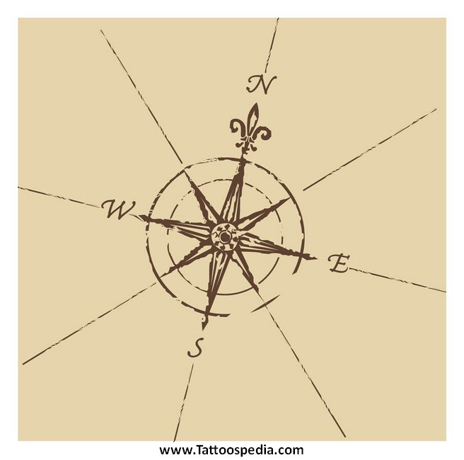 Small Compass Rose Tattoos 10