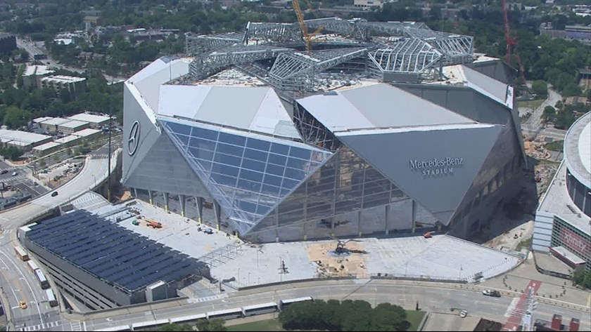 Mercedes-Benz Stadium, Atlanta Falcons football stadium ...