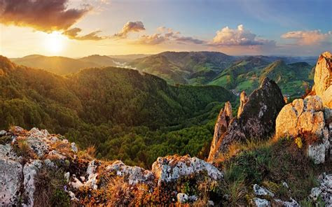 wallpaper sunrise morning mountains slovakia nature  wallpaper  iphone android