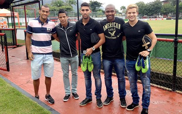 Diego Silva, Nixon, Frauches, Samir e Thomás treino seleção (Foto: Thiago Correia)