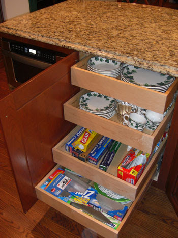 easy access cabinet drawer