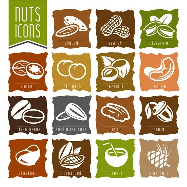 Conjunto de iconos de NUTS - 2 — Vector de stock #64847527