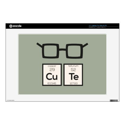 Cute chemical Element Nerd Glasses Zwp34 Laptop Decal