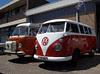 Volkswagen T1 (1964) and T2 camper (1979)