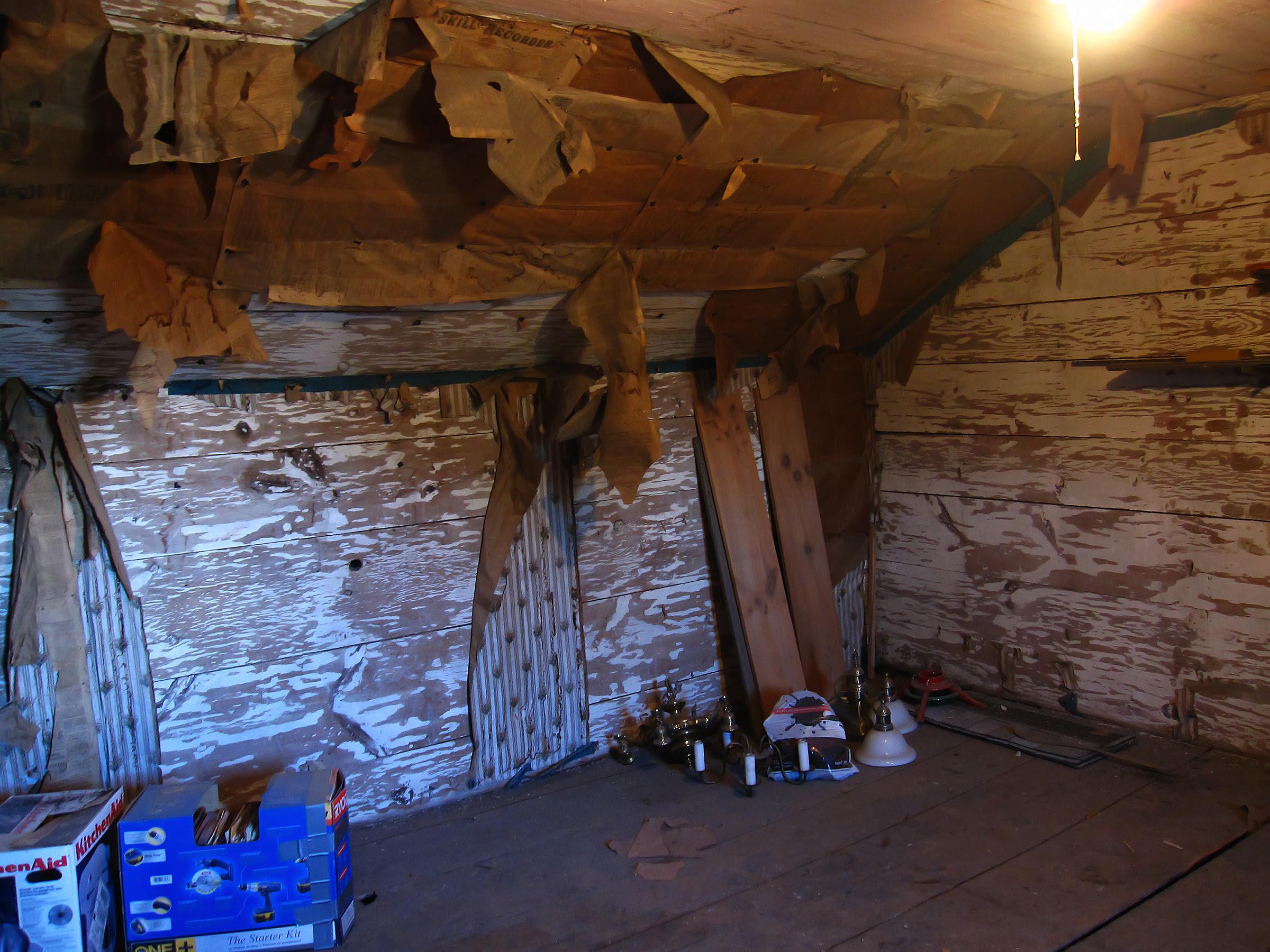 In the attic...