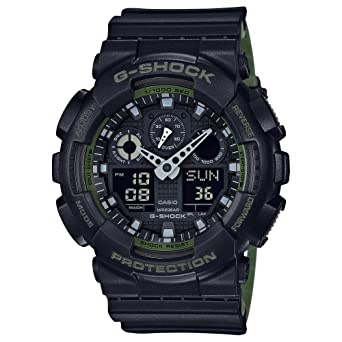 G Shock Settings GA-100 Neon Highlights Watch